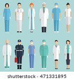 doctors  hospital staff flat... | Shutterstock .eps vector #471331895