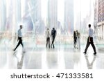 abstract image of people in the ... | Shutterstock . vector #471333581