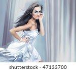 beautiful brunette running | Shutterstock . vector #47133700