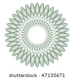 guilloche rosette  watermark  ... | Shutterstock .eps vector #47135671