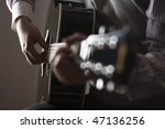 man playing guitar. shot in... | Shutterstock . vector #47136256