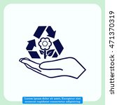 throw away the trash icon ... | Shutterstock .eps vector #471370319