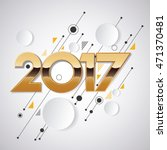 2017 new year creative design... | Shutterstock .eps vector #471370481
