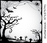 set of halloween border and... | Shutterstock .eps vector #471375791