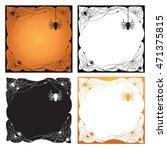 set of halloween border and... | Shutterstock .eps vector #471375815