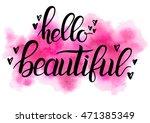 hello beautiful   text written... | Shutterstock . vector #471385349