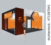 creative exhibition stand...   Shutterstock .eps vector #471387041