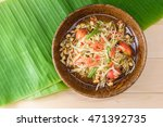 papaya salad top view on a... | Shutterstock . vector #471392735