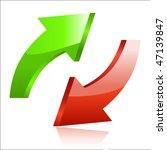 arrow icon | Shutterstock .eps vector #47139847