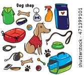 dog shop   dog with their toys. ... | Shutterstock .eps vector #471399101