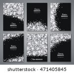 set of black and silver banners ... | Shutterstock .eps vector #471405845