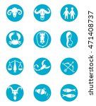 horoscope signs. twelve zodiac... | Shutterstock .eps vector #471408737