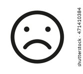 disappointed smiley vector icon.... | Shutterstock .eps vector #471410384