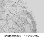 abstract background lines. 3d... | Shutterstock . vector #471410957