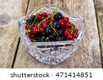 black and red currant in... | Shutterstock . vector #471414851