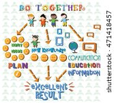 infographics on the theme of... | Shutterstock .eps vector #471418457