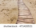 Wooden Beach Boardwalk  Path...