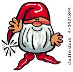 one cute gnome with beard and... | Shutterstock .eps vector #471421844