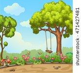 swing on tree in park. | Shutterstock .eps vector #471427481