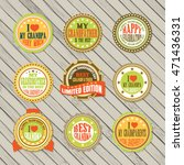 vintage labels vector set for... | Shutterstock .eps vector #471436331