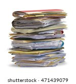 large pile of messy files... | Shutterstock . vector #471439079