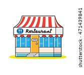 restaurant building with red... | Shutterstock .eps vector #471439841