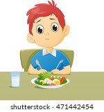 illustration of kid sad with... | Shutterstock .eps vector #471442454