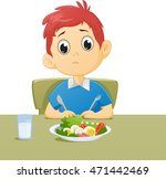 illustration of kid sad with... | Shutterstock . vector #471442469