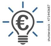 euro idea bulb icon. vector...   Shutterstock .eps vector #471443687