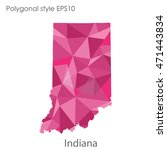 indiana state map in geometric... | Shutterstock .eps vector #471443834