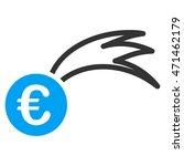euro falling meteor icon. glyph ...   Shutterstock . vector #471462179