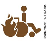 burn patient icon. glyph style... | Shutterstock . vector #471466505
