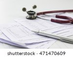 stethoscope put on paper the