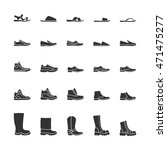 icons of men's shoes. vector... | Shutterstock .eps vector #471475277