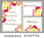 invitation with floral... | Shutterstock . vector #471477731
