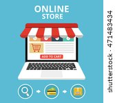 online store concept. set icons.... | Shutterstock .eps vector #471483434
