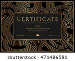 certificate  diploma of... | Shutterstock .eps vector #471486581