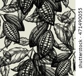 cocoa beans seamless pattern.... | Shutterstock .eps vector #471490055