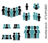 people icon set | Shutterstock .eps vector #471491885