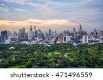 lumpini park and bangkok city... | Shutterstock . vector #471496559
