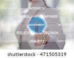 businesswoman presses... | Shutterstock . vector #471505319