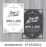wedding invitation vintage card ... | Shutterstock .eps vector #471510311
