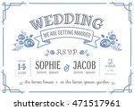 wedding invitation vintage card ... | Shutterstock .eps vector #471517961