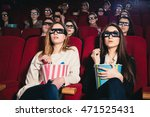 two friends in the movies to... | Shutterstock . vector #471525431