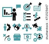 startups  new business icon set | Shutterstock .eps vector #471525647