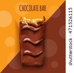 chocolate bar concept.... | Shutterstock .eps vector #471526115