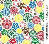 abstract flower seamless pattern | Shutterstock .eps vector #471527114