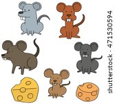vector set of mouse | Shutterstock .eps vector #471530594