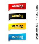 warning 3d realistic paper... | Shutterstock .eps vector #471534389