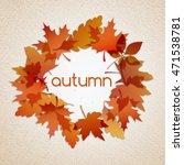 autumn illustration background | Shutterstock . vector #471538781